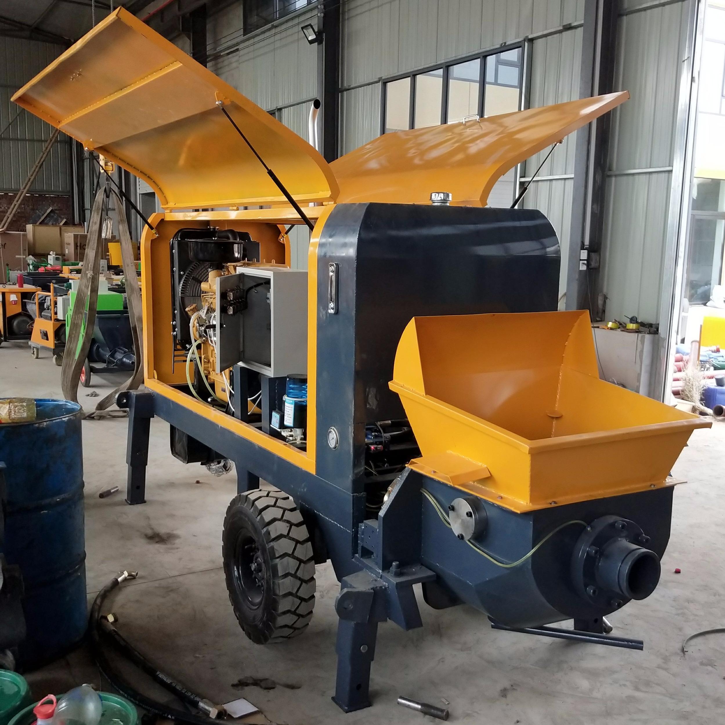 江淼兴机械生产混凝土输送泵 二次构造柱泵 微型细石泵车 13石子地泵 小型混凝土输送泵