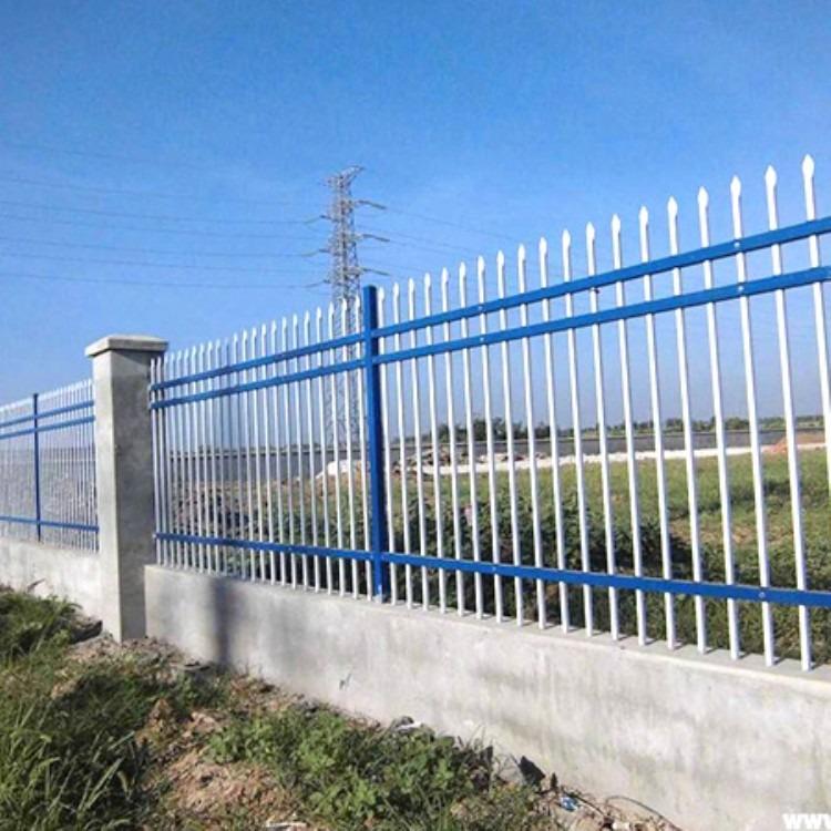 别墅围墙护栏 黑色铁艺护栏 铸铁护栏 围墙栅栏工厂直销