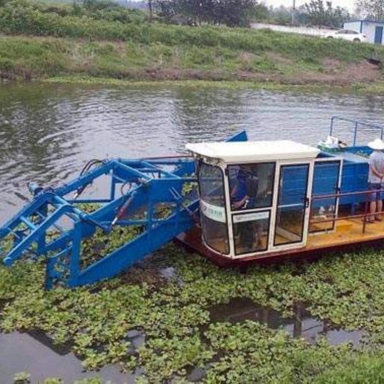 水草收割机芦苇收割船价格