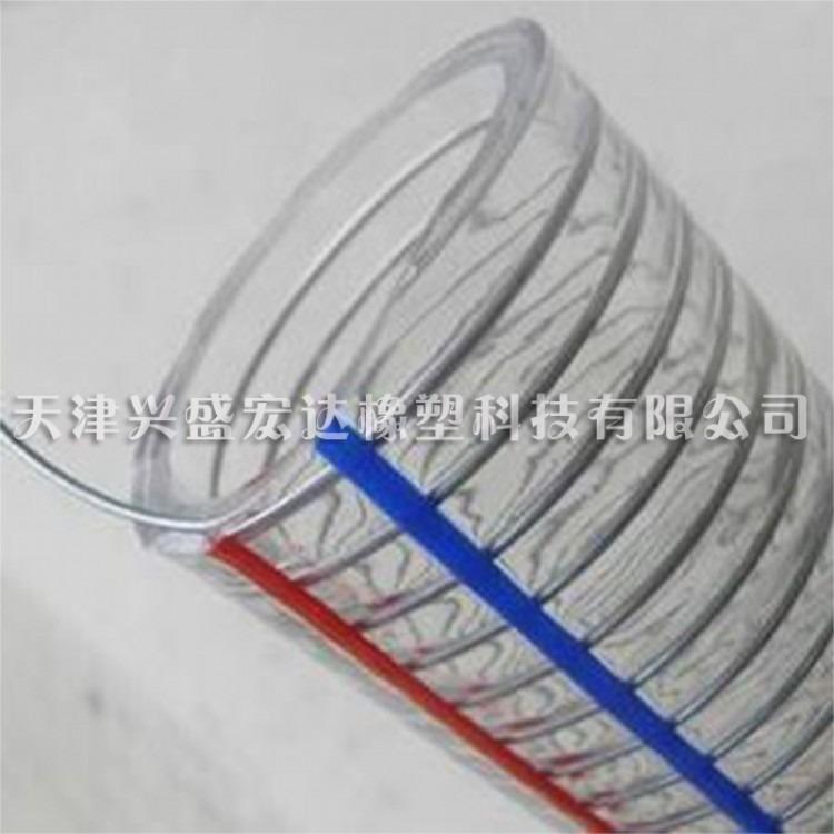 天津兴盛PVC钢丝软管塑料透明管油管水管胶管抗冻螺旋钢丝管