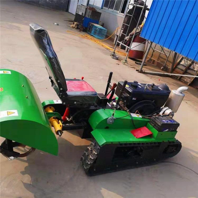 座驾式3235马力履带式旋耕除草机  农用小型履带式开沟机 田园管理起垄回填机