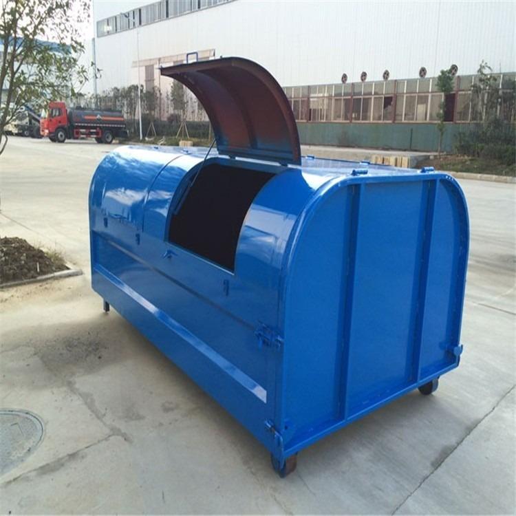 加厚型挂车3立方铁垃圾箱方形环卫户外垃圾桶勾臂垃圾箱