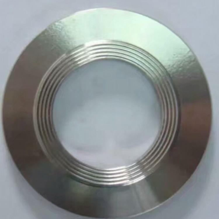 5mm厚304不锈钢金属石墨齿形垫圈大直径耐高温耐高压316金属齿形密封垫定做加工金属石墨齿形垫