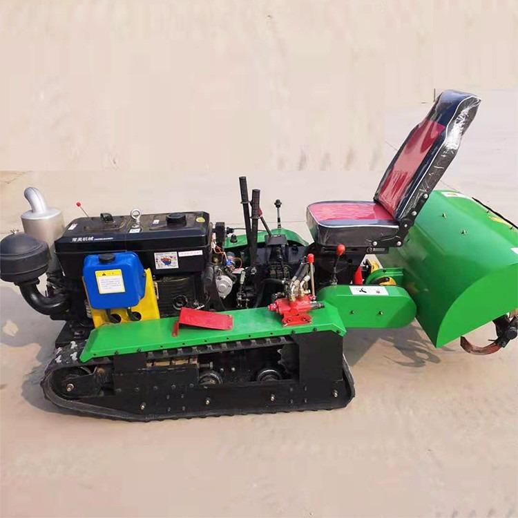 厂家直供座驾式履带旋耕机 履带式开沟机 果园履带旋耕除草机