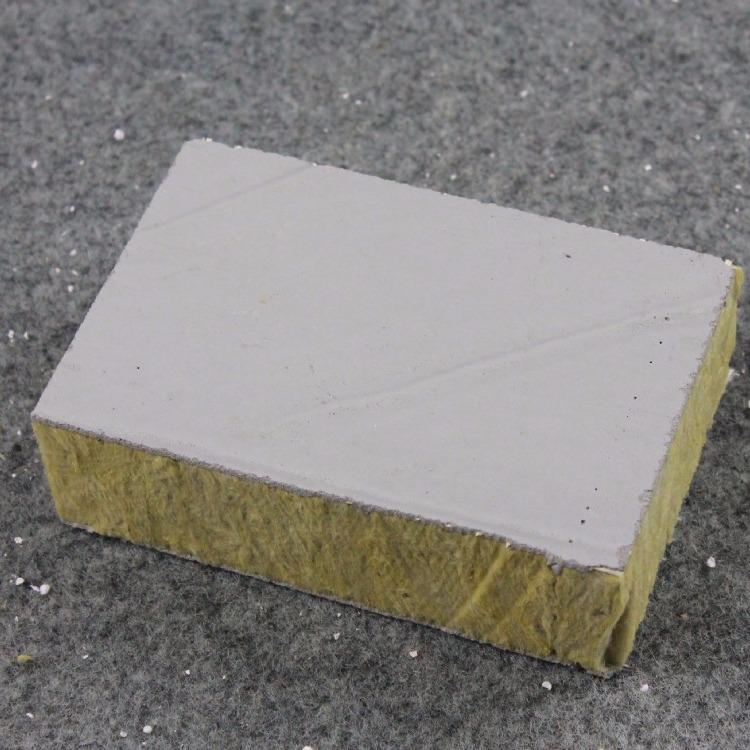 鹏伟建材 砂浆岩棉复合板 岩棉复合岩棉板 外墙竖丝岩棉保温板砂浆岩棉厂家