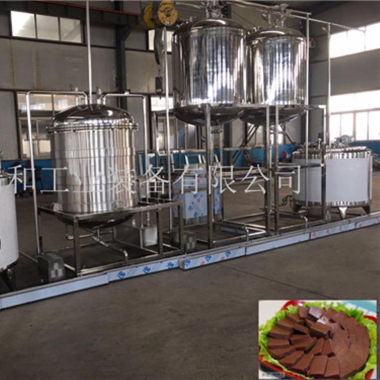 血豆腐加工设备|盒装鸭血生产设备|诸城猪血加工设备