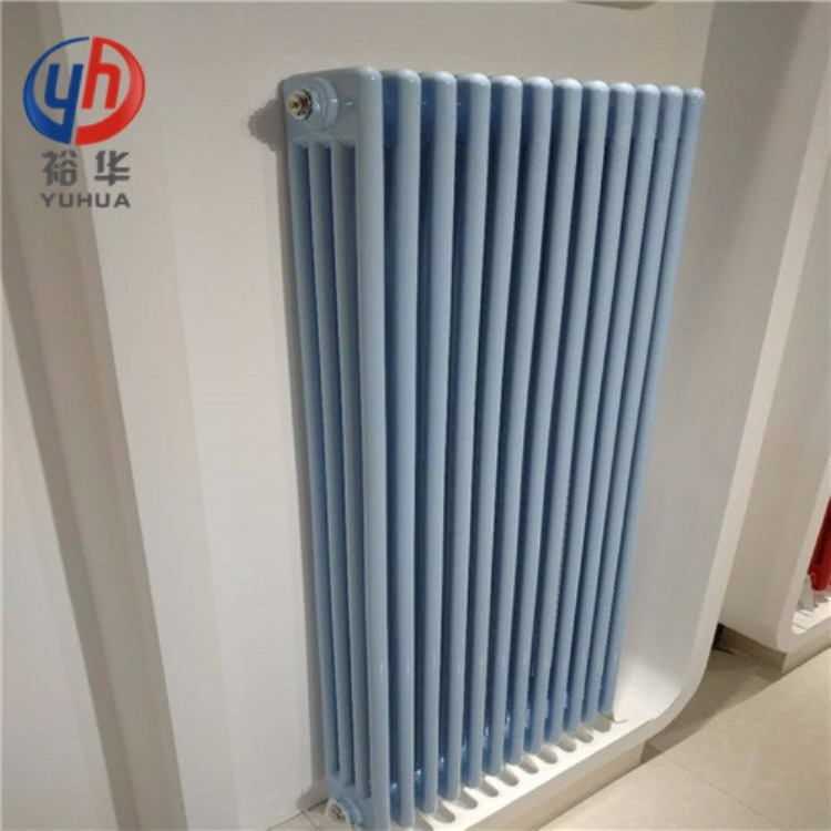 GZ406家用钢四柱暖气片安装效果图
