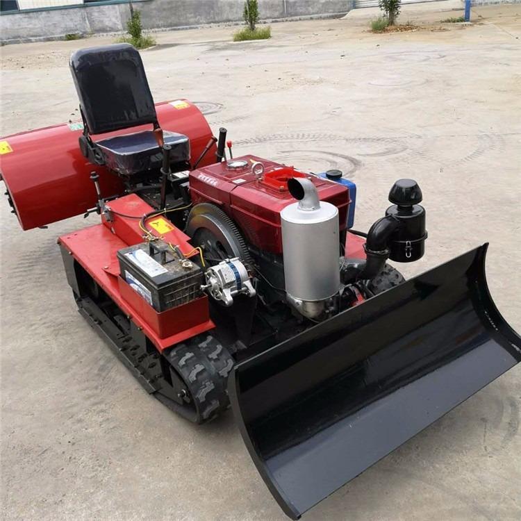 梯田履带旋耕开沟机 座驾式爬坡履带耕地设备