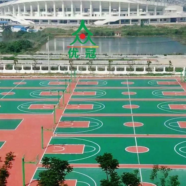 优冠全塑型塑胶球场混合球塑胶球场全塑型塑胶球场厂家