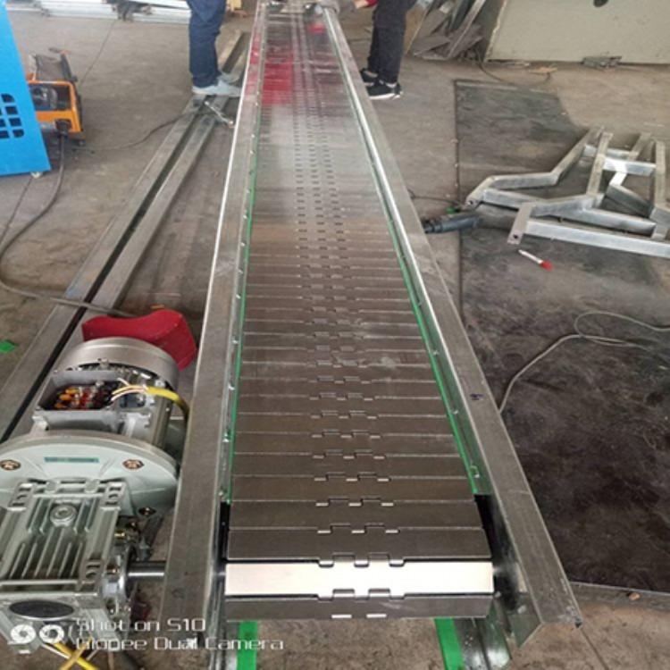 专业生产食品不锈钢链板线 自动化设备工业流水线型链板式输送机