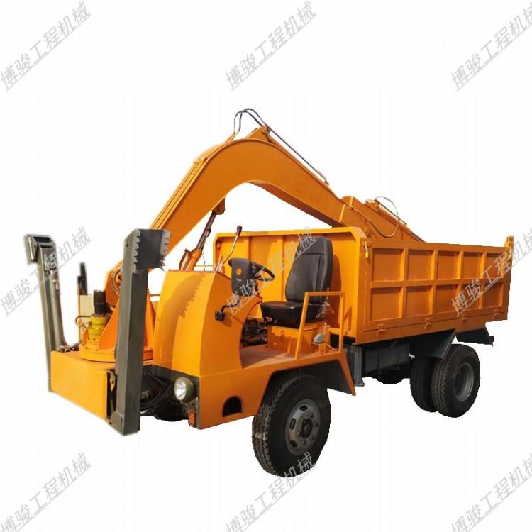 黄冈小型履带随车挖机挖掘机抓木机