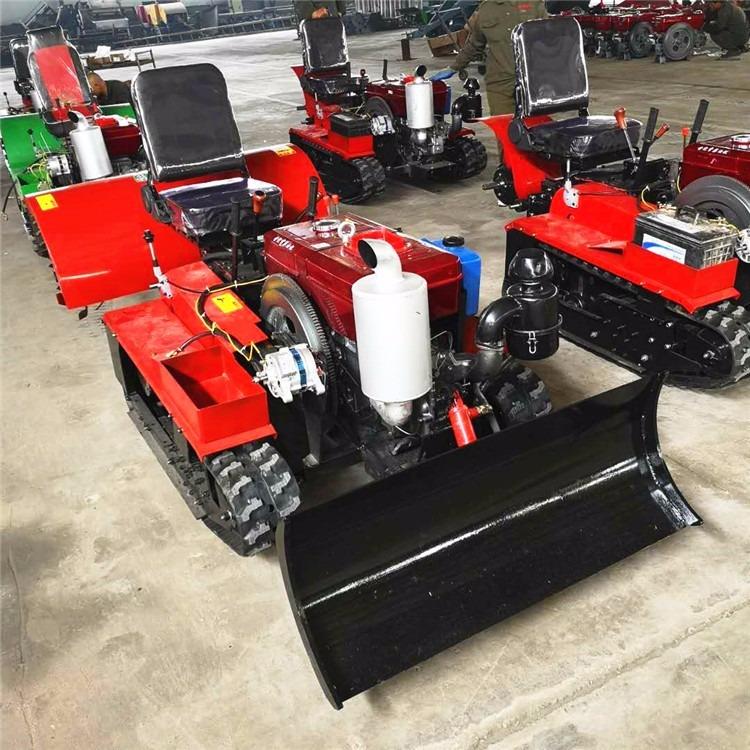 新款农田管理履带旋耕机 低油耗果园施肥除草设备 座驾式柴油开沟机