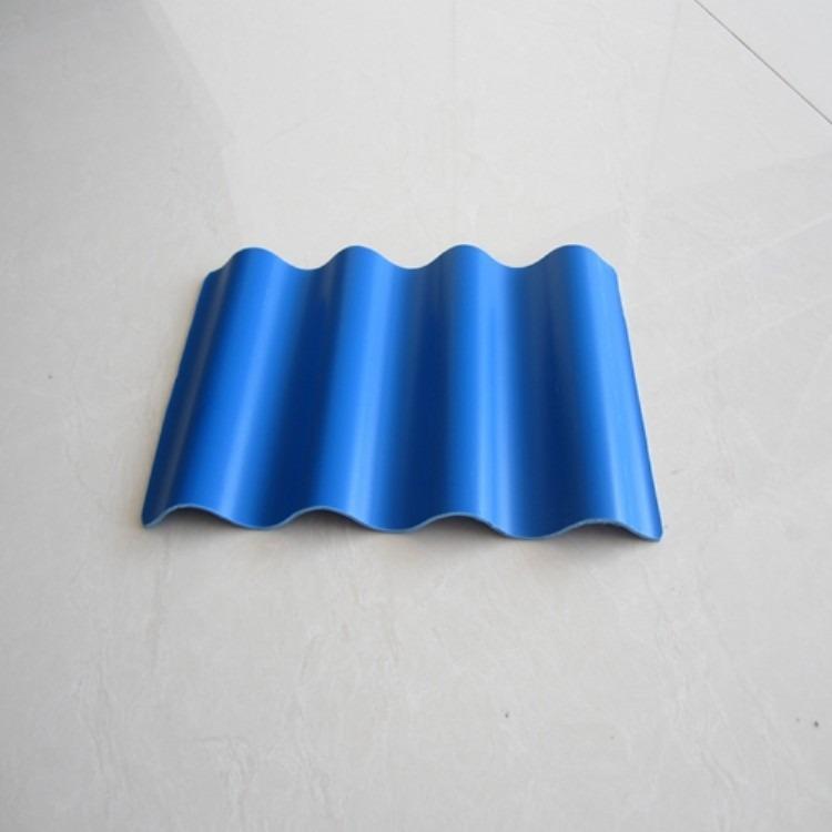 屋面耐候防腐PVC波浪瓦 蓝色圆波塑钢瓦防雨车棚