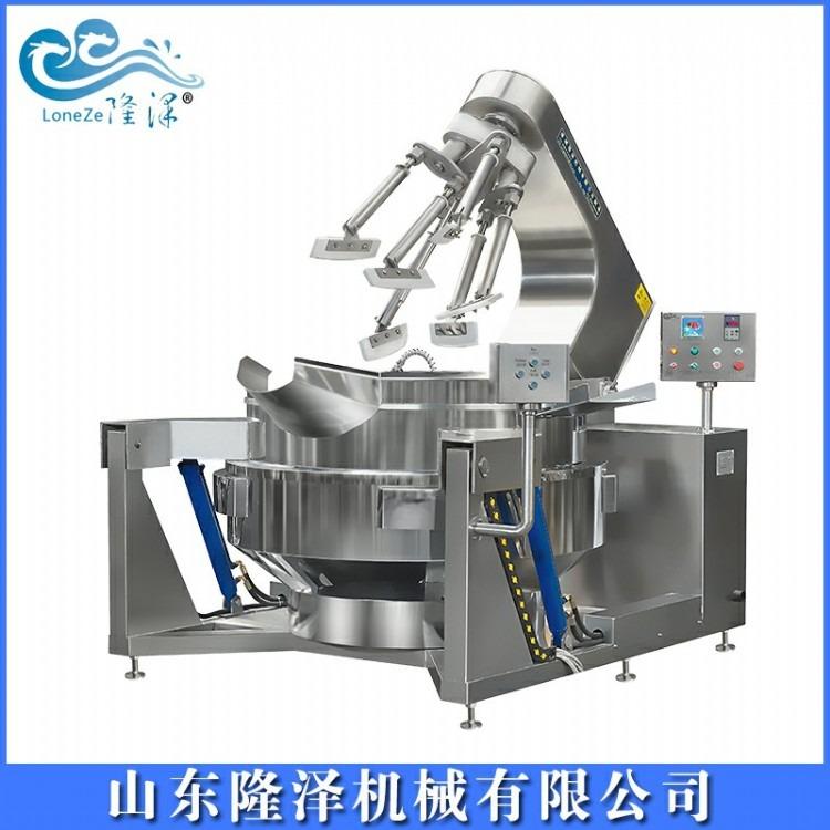 大型火锅炒料机 全自动辣椒酱加工设备 串串香加工熬制设备