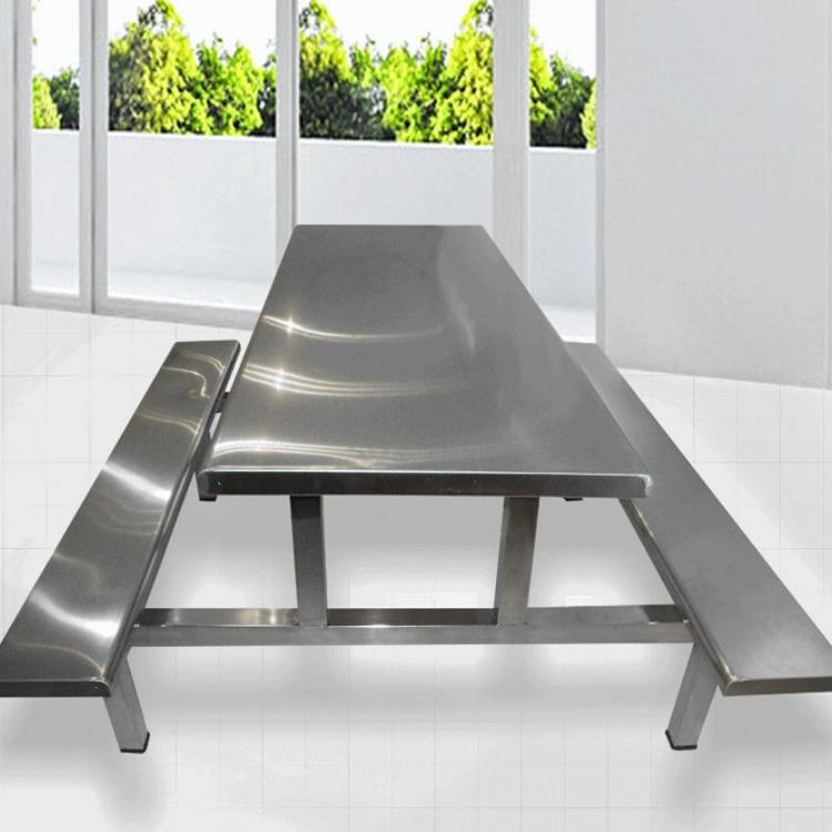 直销全国肯德基不锈钢连体快餐桌椅 现代中式不锈钢连体快餐桌椅