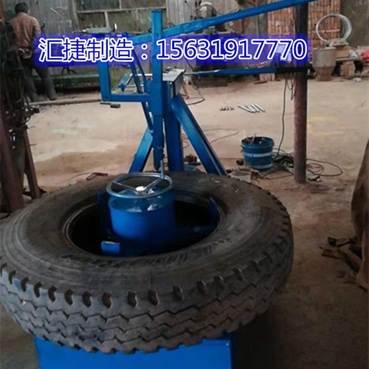 汇捷生产厂家生产橡胶轮胎切割机 小钢丝轮胎切割机 口圈分离切割机 侧面钢丝轮胎切割机