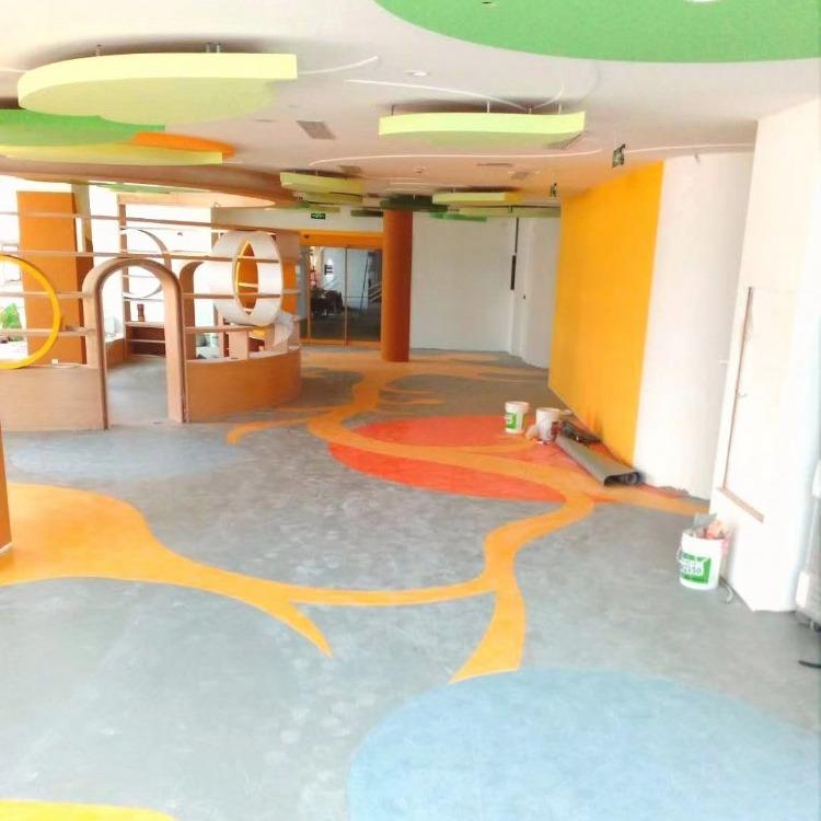 幼儿园塑胶地板价格 PVC地板施工 幼儿园地胶厂家