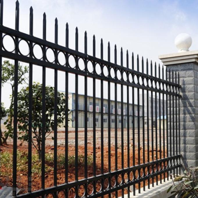 浙江宁波厂家  生产直销锌钢喷塑围墙护栏  四横杆围墙隔离栏围栏