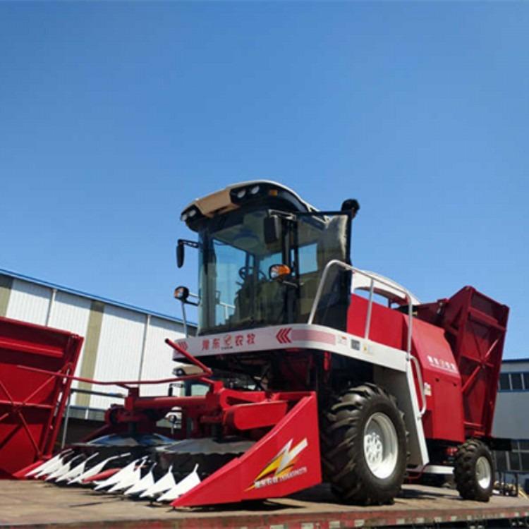 履带式玉米秸秆揉草机 大型牧草收割机