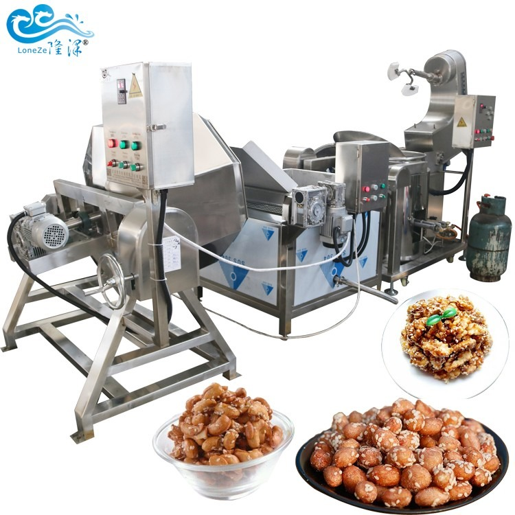 蜂蜜花生生产设备 蜂蜜花生米机械 蜂蜜花生挂糖衣机