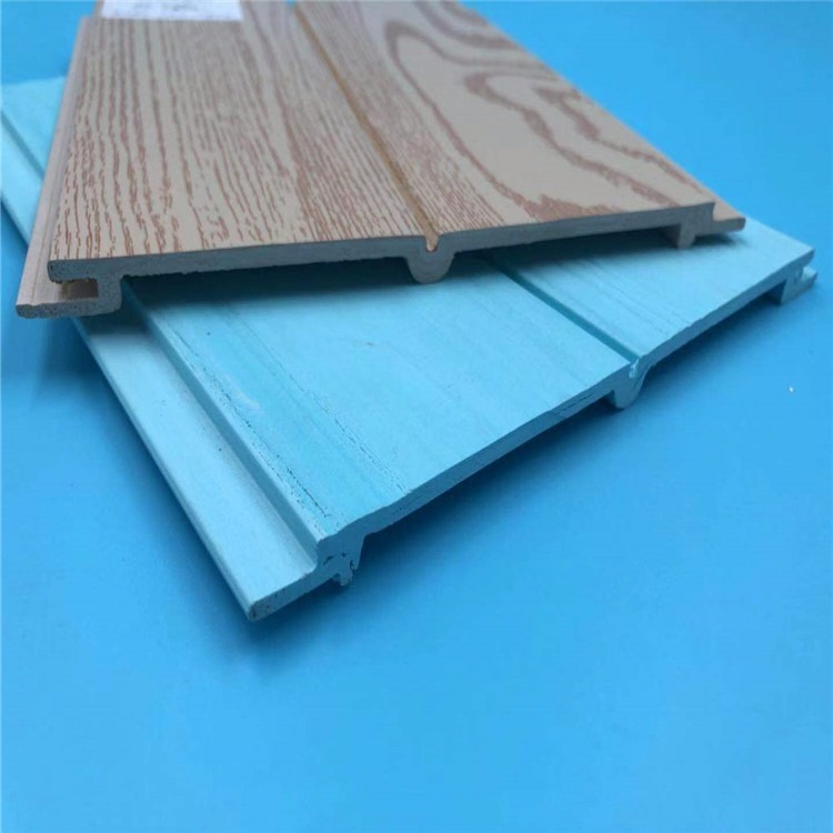 优质生态木系列墙板 生态木包覆墙板 鑫美饰浮雕板厂家直销
