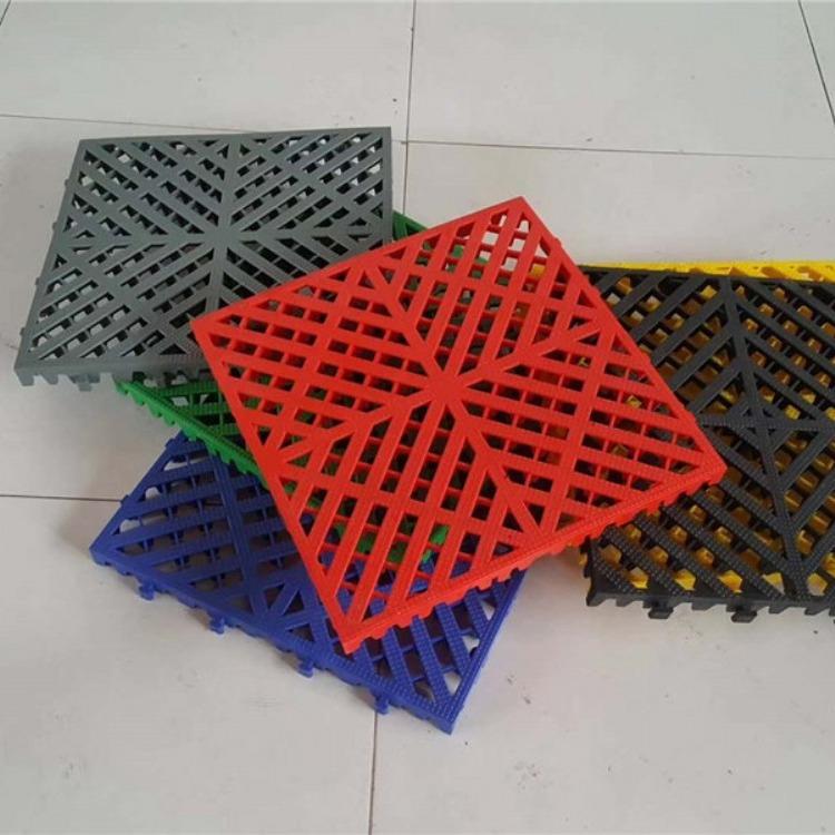 华盛工厂直营塑料拼接格栅   加厚型方形拼接格栅   颜色可定制