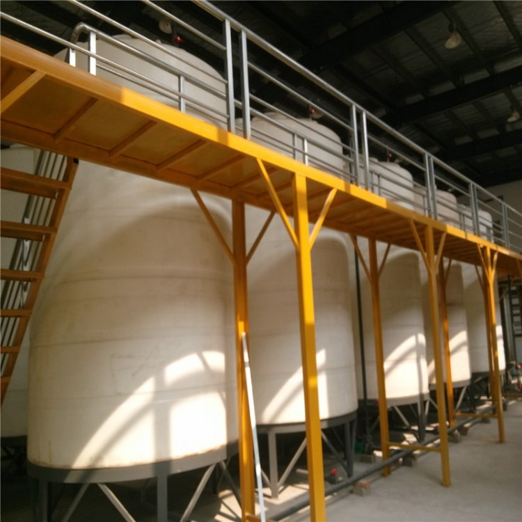5000升圆柱形锥底PE储水箱5吨耐酸碱尖底塑料桶5立方锥底沉淀桶