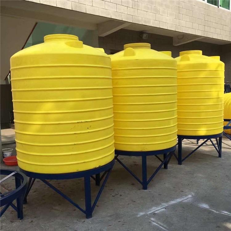 10000公斤圆柱型锥底水箱10000L尖底桶 食品级锥底储罐 工业化工桶