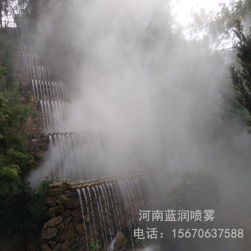 蓝润厂家直销 七里香堤雾森系统 杭州雾森设备 浙江人工造雾设备 批发价格 全国上门安装