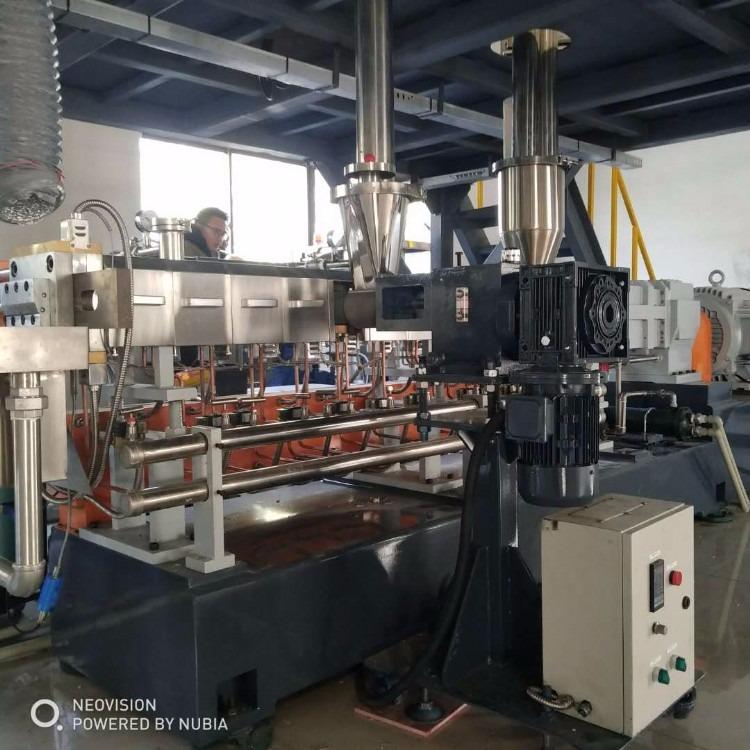 南京棉亚 LTS-95三螺杆造粒机  海尔奥克斯美的等空调料HIPS改性专用造粒机
