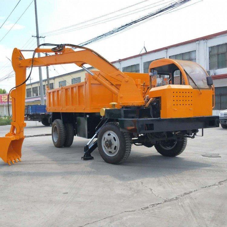 专业生产随车挖掘机 车载式挖掘机 四不像轮式挖掘机