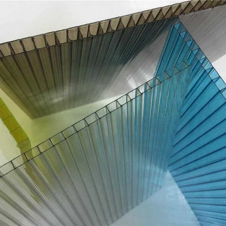 8mm阳光板 透明pc阳光板 中空二层阳光板 厂家直销