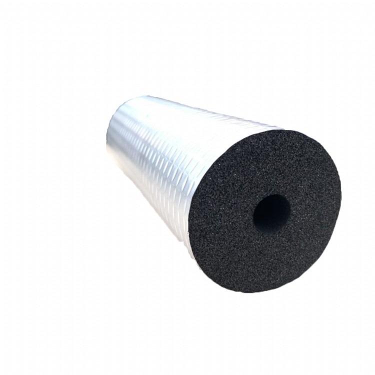 冷热水管保冷保温复合管 工程阻燃防火吸音橡塑管 防冻下水管道保温管