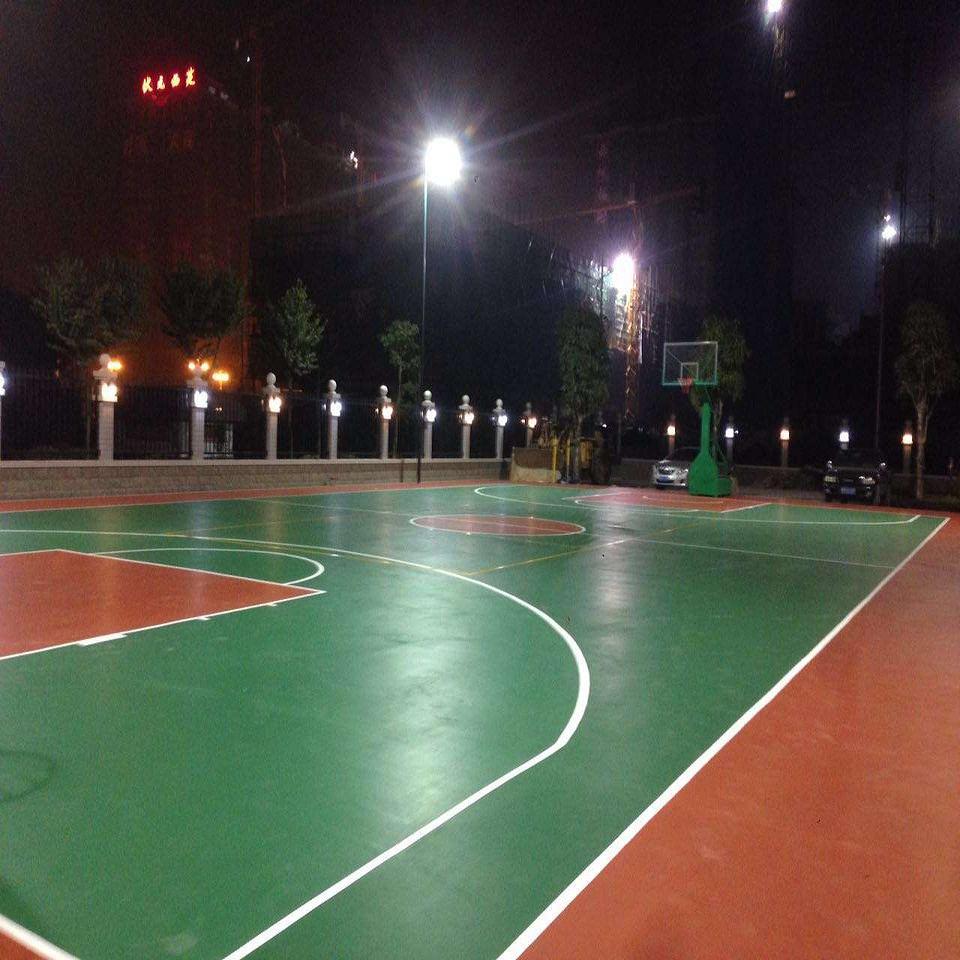 来宾市金秀环保绿色的塑胶篮球场材料,环保绿色安全