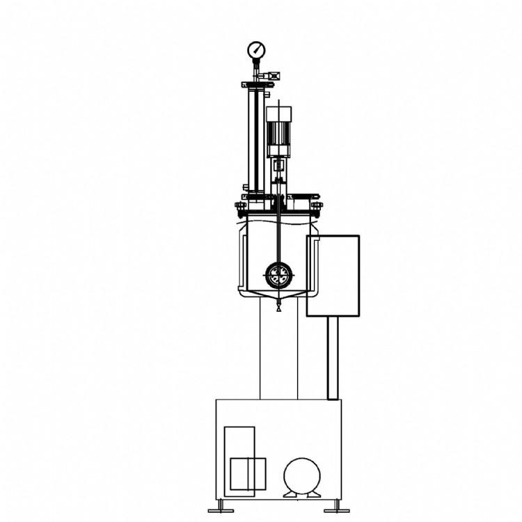 厂家直销小型提取浓缩机组   50-100L 提取浓缩机组  醇提设备  酒精提取  天然产物提取浓缩
