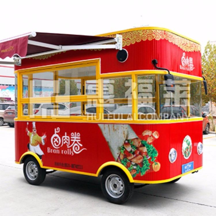 卖蛋糕手推车,蛋糕售卖车,流动水果摊,惠福莱餐车