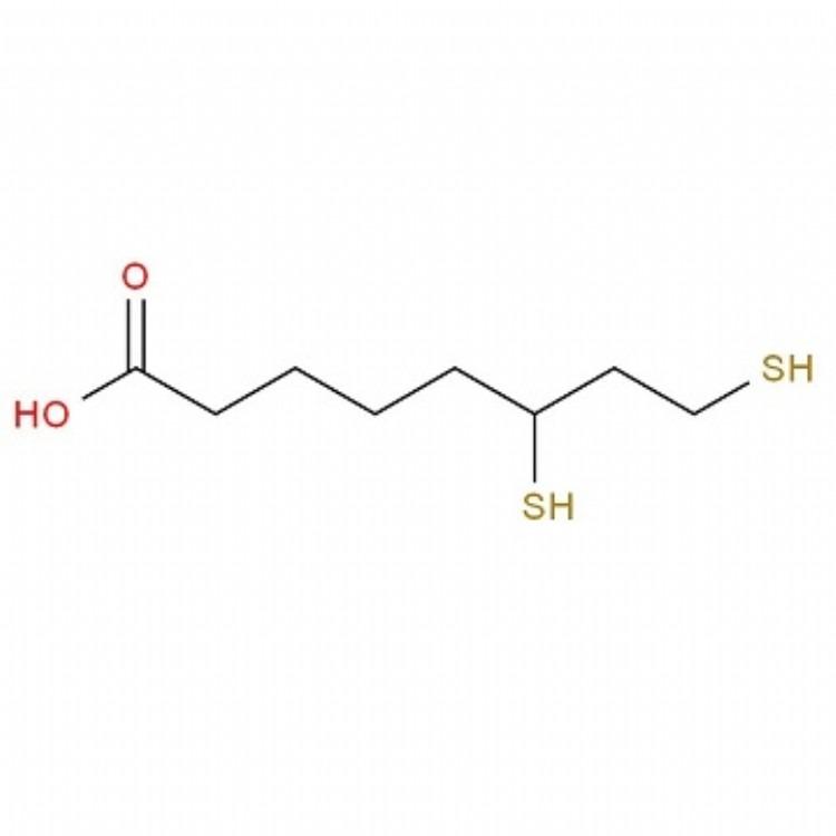二氢硫辛酸6,8-二巯基正辛酸  1g  cas:462-20-4