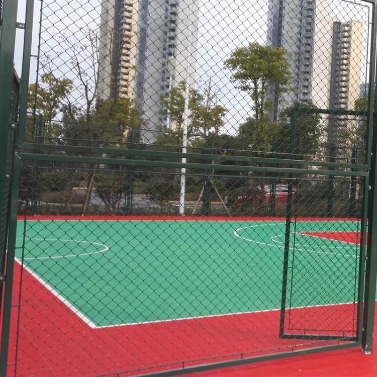 喷塑勾花篮球场围网规格说明