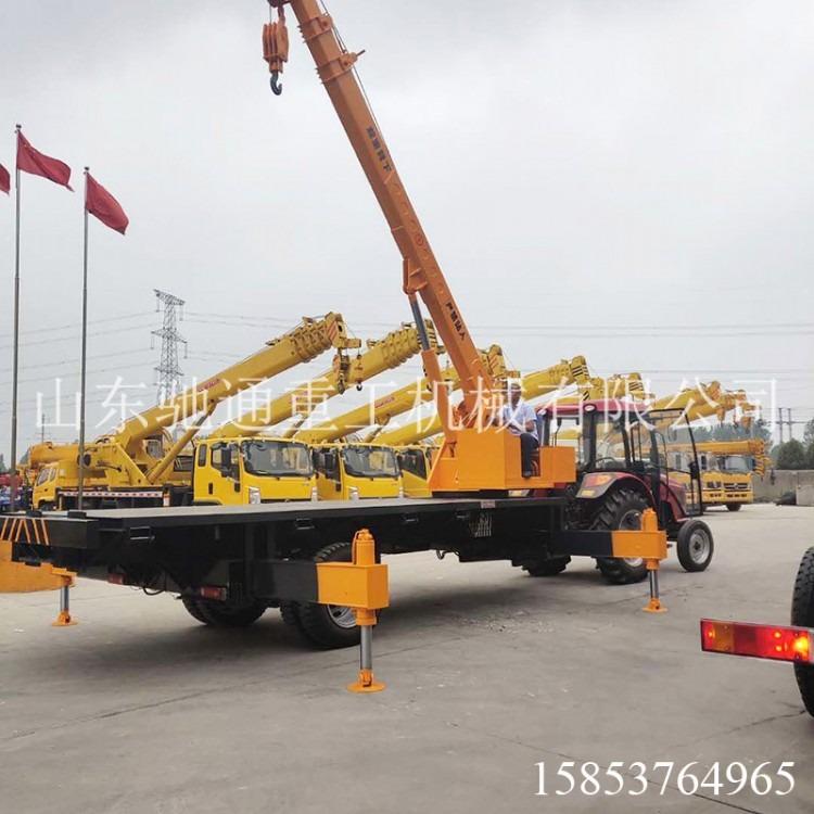 拖拉机平板随车吊 改装小型拖拉机平板吊车 拖拉机吊重运输车价格