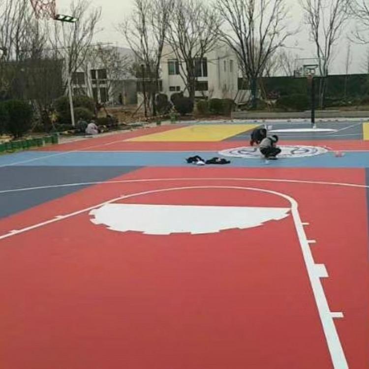 体育 运动 场馆地坪 篮球场 网球场   混凝土 透气透水彩色塑胶跑道 球场跑道