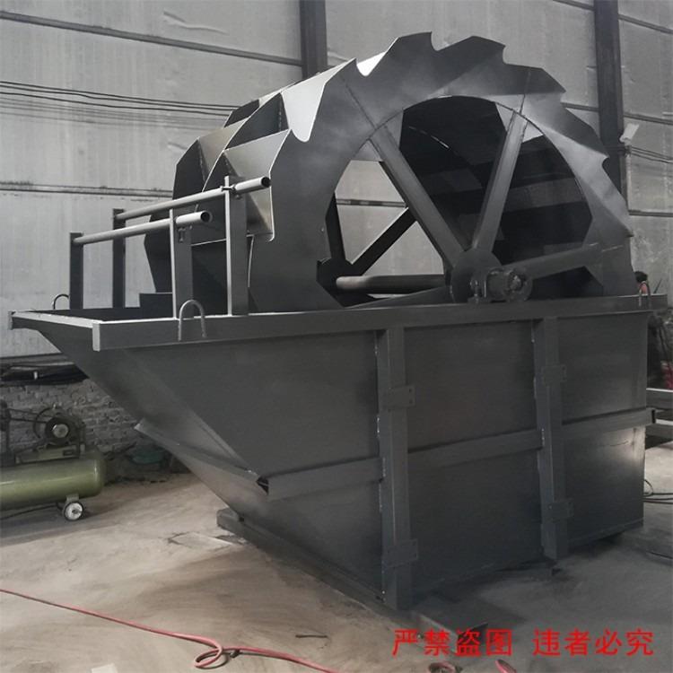 顺流槽水轮式洗砂机 水力旋流器轮斗式洗砂机移动洗砂机