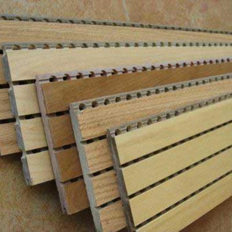木质条缝穿孔板 密度板吸音板 密度板吸音板