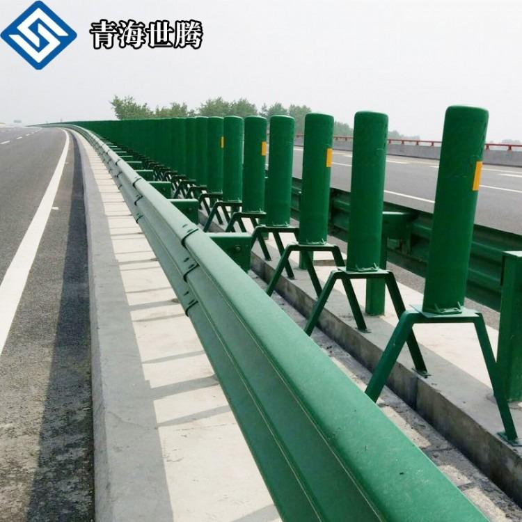 高速公路护栏 波形梁钢护栏 喷塑双波护栏板