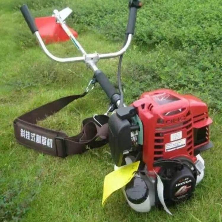 轻便斜挂式割草机 永宏顺 小型汽油手推式草坪机 汽油动力割草机厂家