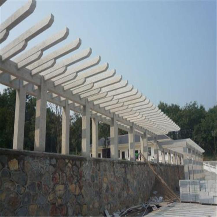 厂家供应优质凉亭长廊仿石长廊景观长廊