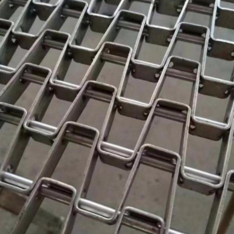 厂家定制 蔬菜清洗控干输送网带流水线 金属马蹄链网