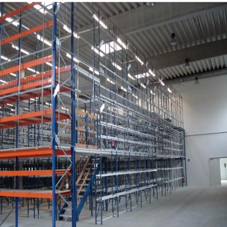 南京货架厂家供应重型钢层板货架-仓库货架-搁板式货架-森沃仓储