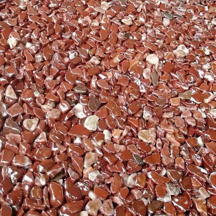 粘胶石 透水地坪施工 指导 彩色粘胶石 胶合剂材料直销 彩色透水地坪