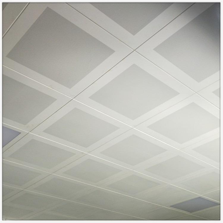 厂家直销会议室吊顶铝扣板 酒店吸音铝扣板 机房铝扣板吊顶专用 60x600工程铝天花一站式安装价格