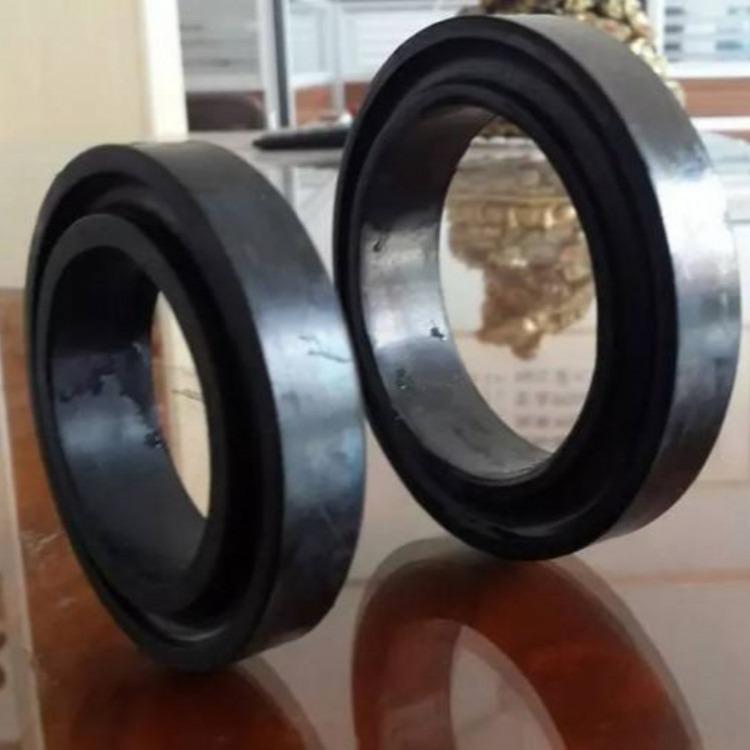 矿井猴车配件 橡胶猴车轮衬200*146*50单托轮轮衬 托绳轮衬垫厂家